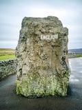 Gränsen mellan England och Skottland på Carter Bar - Förenade kungariket royaltyfri foto
