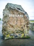 Gränsen mellan England och Skottland på Carter Bar - Förenade kungariket arkivbild