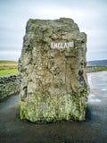 Gränsen mellan England och Skottland på Carter Bar - Förenade kungariket royaltyfri bild