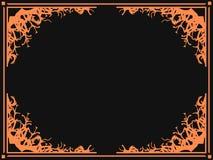 Gränser för allhelgonaaftonramOktober 31st läskiga filial letters amerikansk för färgexplosionen för kortet 3d ferie för hälsning royaltyfri illustrationer