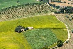 Gränser (Italien) - landskap Arkivbilder