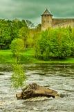 Gränsflod Fotografering för Bildbyråer