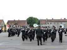 Gränslinjen firar dagen, Litauen Arkivbild