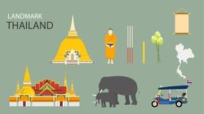 Gränsmärke av Bangkok, Thailand royaltyfri illustrationer