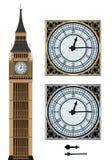 Gränsmärke Big Ben och klockan Fotografering för Bildbyråer