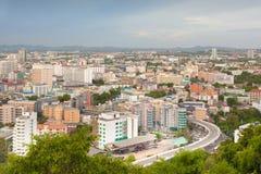 Gränsmärke för Pattaya stadslopp i Thailand Arkivbild
