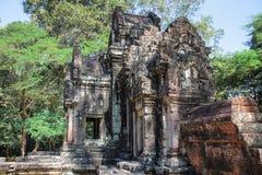 Gränsmärke i Ankor Wat, Cambodja Royaltyfri Fotografi