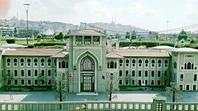 Gränsmärke i Istanbul Fotografering för Bildbyråer
