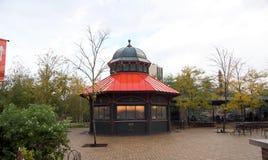 Gränsmärkekafé på Lincoln Park Zoo Chicago, Illinois arkivbild