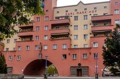 GränsmärkeKarl-Marx-Hof byggnad Fotografering för Bildbyråer