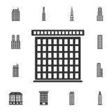 Gränsmärken som bygger symbolen Enkel beståndsdelillustration Gränsmärken som bygger symboldesign från byggnadssamlingsuppsättnin royaltyfri illustrationer