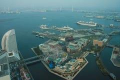 Gränsmärketorn, Yokohama Japan, Minato Mirai Arkivfoton