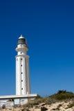 Gränsmärkeudde Trafalgar Spanien Faro de Trafalgar Arkivfoto