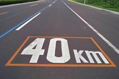 gränsteckenhastighet Arkivfoto
