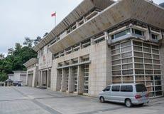 Gränstestpunktbyggnad i Vietnam royaltyfria bilder