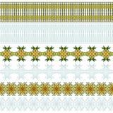 gränsuppsättning, vektorillustration Royaltyfri Foto