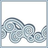 Gränsvåg stock illustrationer