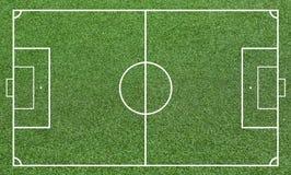 Gräs av ett fotbollfält Bakgrund för fotbollfält eller för fotbollfält Fotografering för Bildbyråer