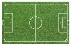 Gräs av ett fotbollfält Bakgrund för fotbollfält eller för fotbollfält Arkivbild