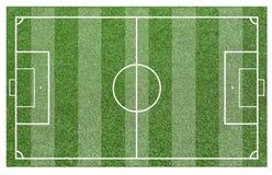 Gräs av ett fotbollfält Bakgrund för fotbollfält eller för fotbollfält Arkivfoto