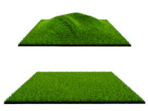 gräs 3d på vit bakgrund Arkivfoton