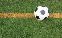 Gräs för stadion för fotbollfotbollfält Arkivbild