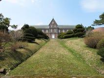 gräs- herrgårdbana till Arkivfoto