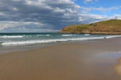 Gräs- huvud och stranden på den australiska kusten Royaltyfri Foto