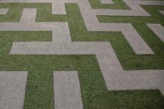 Gräs Maze View från bästa sikt royaltyfri bild
