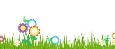 Gräs och blommor Stock Illustrationer