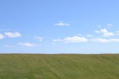 Gräs och skyen Bakgrund Royaltyfri Fotografi