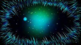 Gräs på natten med eldflugor kretsar, video bakgrund för bästa ögla för att lugna och att koppla av stock illustrationer