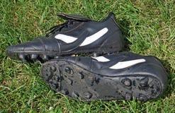 gräs shoes fotboll Arkivbilder