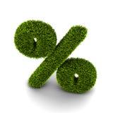 Gräs symbol av procent Arkivbild