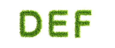 gräs- symboliskt för alfabet Royaltyfri Fotografi