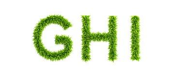 gräs- symboliskt för alfabet Royaltyfri Bild