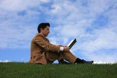 gräsavläsning Royaltyfri Fotografi