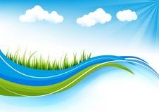 Gräsbakgrund stock illustrationer