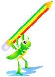 gräshoppan skriver Royaltyfri Fotografi