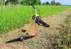 gräsklippningsmaskiner Fotografering för Bildbyråer