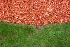 gräskomposttäckning Arkivfoton