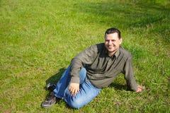 gräsmän Fotografering för Bildbyråer