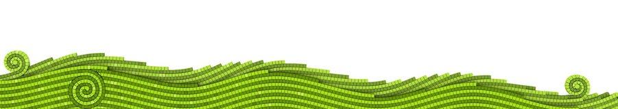 gräsmosaik stock illustrationer