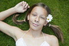 gräspicknickstående Fotografering för Bildbyråer