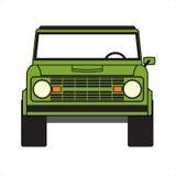 Gräsplan av vägbilen Fotografering för Bildbyråer