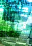 Gräsplan-blått fläckig bakgrund som täckas med genomskinliga cirklar och vitband Royaltyfria Foton