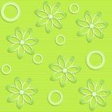 Gräsplan blommar på grön bakgrund Stock Illustrationer
