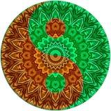 Gräsplan - bruna ying yang Arkivfoton