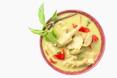 Gräsplan-curry-med-höna Arkivbilder