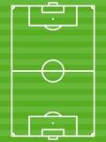 Gräsplan för fotbollfält - vektorillustration Arkivfoto